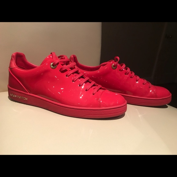 Red Shiny Louis Vuitton Sneakers